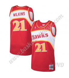 Atlanta Hawks Trikot Kinder 1986-87 Dominique Wilkins 21# Rot Hardwood Classics NBA Trikots Swingman..