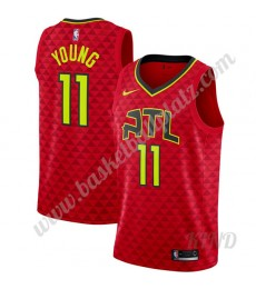 Atlanta Hawks Trikot Kinder 2019-20 Trae Young 11# Rot Statement Edition NBA Trikots Swingman..