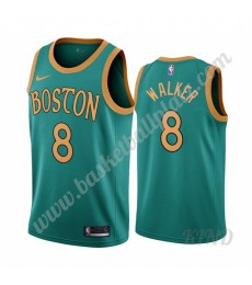 Boston Celtics Trikot Kinder 2019-20 Kemba Walker 8# Grün City Edition NBA Trikots Swingman..