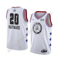 Boston Celtics Trikot Herren 2019 Gordon Hayward 20# Weiß All Star Game Basketball Trikots Swingman..