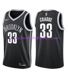 Brooklyn Nets Trikot Herren 2018-19 Allen Crabbe 33# Icon Edition Basketball Trikots NBA Swingman..