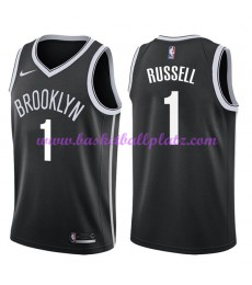 Brooklyn Nets Trikot Herren 2018-19 D'Angelo Russell 1# Icon Edition Basketball Trikots NBA Swingman..