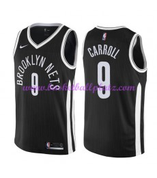 Brooklyn Nets Trikot Herren 2018-19 DeMarre Carroll 9# City Edition Basketball Trikots NBA Swingman..