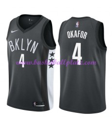 Brooklyn Nets Trikot Herren 2018-19 Jahlil Okafor 4# Statement Edition Basketball Trikots NBA Swingm..