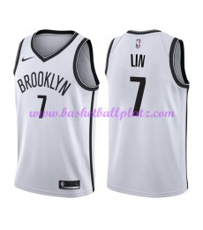 Brooklyn Nets Trikot Herren 2018-19 Jeremy Lin 7# Association Edition Basketball Trikots NBA Swingma..