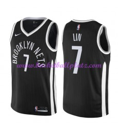 Brooklyn Nets Trikot Herren 2018-19 Jeremy Lin 7# City Edition Basketball Trikots NBA Swingman..