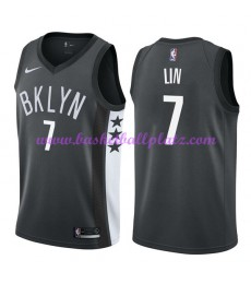 Brooklyn Nets Trikot Herren 2018-19 Jeremy Lin 7# Statement Edition Basketball Trikots NBA Swingman..