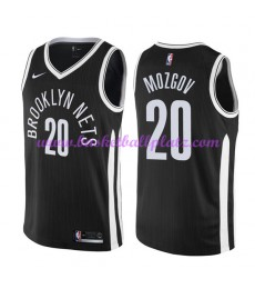 Brooklyn Nets Trikot Herren 2018-19 Timofey Mozgov 20# City Edition Basketball Trikots NBA Swingman..