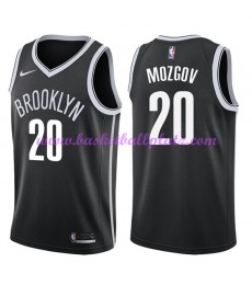 Brooklyn Nets Trikot Herren 2018-19 Timofey Mozgov 20# Icon Edition Basketball Trikots NBA Swingman..