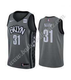 Brooklyn Nets Trikot Herren 2019-20 Jarrett Allen 31# Grau Statement Edition Basketball Trikots NBA ..