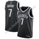 Brooklyn Nets Trikot Herren 2019-20 Kevin Durant 7# Schwarz Icon Edition Basketball Trikots NBA Swingman