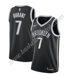 Brooklyn Nets Trikot Herren 2019-20 Kevin Durant 7# Schwarz Icon Edition Basketball Trikots NBA Swin..