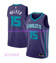 Charlotte Hornets NBA Trikot Kinder 2018-19 Kemba Walker 15# Statement Edition Basketball Trikots Sw..