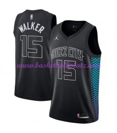 Charlotte Hornets Trikot Herren 2018-19 Kemba Walker 15# City Edition Basketball Trikots NBA Swingma..