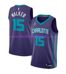 Charlotte Hornets Trikot Herren 2018-19 Kemba Walker 15# Statement Edition Basketball Trikots NBA Sw..
