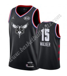 Charlotte Hornets Trikot Herren 2019 Kemba Walker 15# Schwarz All Star Game Basketball Trikots Swing..
