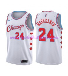 Chicago Bulls Trikot Herren 2018-19 Lauri Markkanen 24# City Edition Basketball Trikots NBA Swingman..