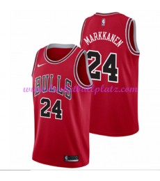 Chicago Bulls Trikot Herren 2018-19 Lauri Markkanen 24# Icon Edition Basketball Trikots NBA Swingman..