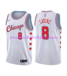 Chicago Bulls Trikot Herren 2018-19 Zach Lavine 8# City Edition Basketball Trikots NBA Swingman..
