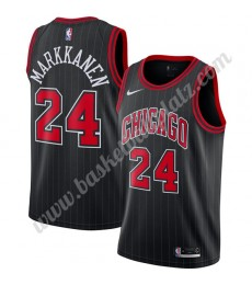Chicago Bulls Trikot Herren 2019-20 Lauri Markkanen 24# Schwarz Finished Statement Edition Basketbal..