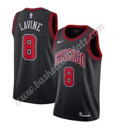 Chicago Bulls Trikot Herren 2019-20 Zach Lavine 8# Schwarz Finished Statement Edition Basketball Tri..