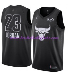 Chicago Bulls Trikot Herren Michael Jordan 23# Schwarz 2018 NBA All Star Game Basketball Trikots Swi..