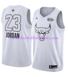 Chicago Bulls Trikot Herren Michael Jordan 23# Weiß 2018 NBA All Star Game Basketball Trikots Swingm..