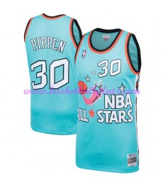 Chicago Bulls Trikot Herren Scottie Pippen 33# Teal 1996 NBA All Star Hardwood Classics Basketball T..