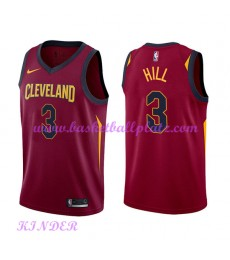 Cleveland Cavaliers NBA Trikot Kinder 2018-19 George Hill 3# Icon Edition Basketball Trikots Swingma..