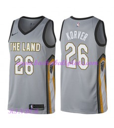 Cleveland Cavaliers NBA Trikot Kinder 2018-19 Kyle Korver 26# City Edition Basketball Trikots Swingm..