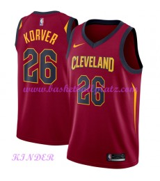 Cleveland Cavaliers NBA Trikot Kinder 2018-19 Kyle Korver 26# Icon Edition Basketball Trikots Swingm..