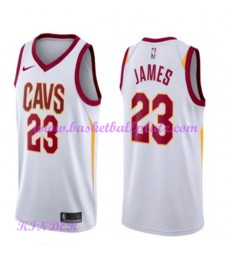Cleveland Cavaliers NBA Trikot Kinder 2018-19 LeBron James 23# Association Edition Basketball Trikots Swingman