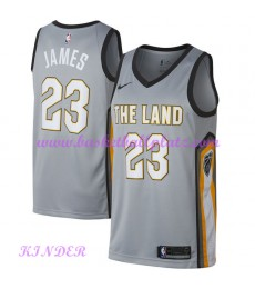 Cleveland Cavaliers NBA Trikot Kinder 2018-19 LeBron James 23# City Edition Basketball Trikots Swing..