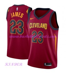 Cleveland Cavaliers NBA Trikot Kinder 2018-19 LeBron James 23# Icon Edition Basketball Trikots Swing..