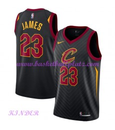 Cleveland Cavaliers NBA Trikot Kinder 2018-19 LeBron James 23# Statement Edition Basketball Trikots Swingman