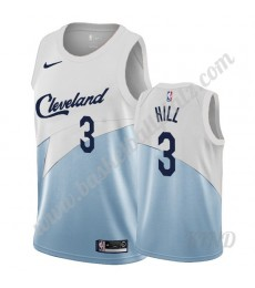 Cleveland Cavaliers Trikot Kinder 2019-20 George Hill 3# Weiß Earned Edition NBA Trikots Swingman..