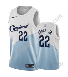 Cleveland Cavaliers Trikot Kinder 2019-20 Larry Nance Jr. 22# Weiß Earned Edition NBA Trikots Swingm..