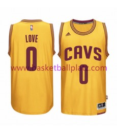 Cleveland Cavaliers Trikot Herren 15-16 Kevin Love 0# Gold Alternate Basketball Trikot Swingman..