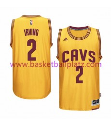 Cleveland Cavaliers Trikot Herren 15-16 Kyrie Irving 2# Gold Alternate Basketball Trikot Swingman..
