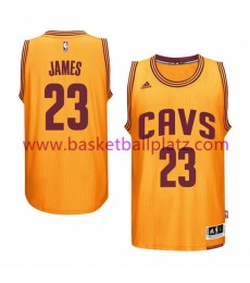Cleveland Cavaliers Trikot Herren 15-16 LeBron James 23# Gold Alternate Basketball Trikot Swingman..