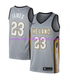 Cleveland Cavaliers Trikot Herren 2018-19 LeBron James 23# City Edition Basketball Trikots NBA Swingman