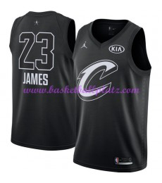 Cleveland Cavaliers Trikot Herren LeBron James 23# Schwarz 2018 NBA All Star Game Basketball Trikots Swingman