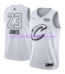 Cleveland Cavaliers Trikot Herren LeBron James 23# Weiß 2018 NBA All Star Game Basketball Trikots Swingman