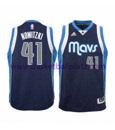 Dallas Mavericks Trikot Kinder 15-16 Dirk Nowitzki 41# Alternate Basketball Trikot Swingman..