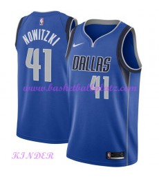 Dallas Mavericks NBA Trikot Kinder 2018-19 Dirk Nowitzki 41# Icon Edition Basketball Trikots Swingman