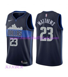 Dallas Mavericks NBA Trikot Kinder 2018-19 Wesley Matthews 23# Statement Edition Basketball Trikots ..