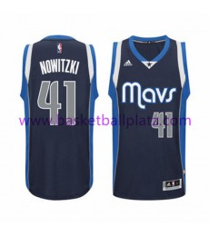 Dallas Mavericks Trikot Herren 15-16 Dirk Nowitzki 41# Alternate Basketball Trikot Swingman