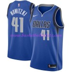 Dallas Mavericks Trikot Herren 2018-19 Dirk Nowitzki 41# Icon Edition Basketball Trikots NBA Swingman