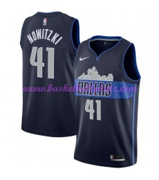 Dallas Mavericks Trikot Herren 2018-19 Dirk Nowitzki 41# Statement Edition Basketball Trikots NBA Sw..
