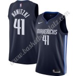 Dallas Mavericks Trikot Herren 2019-20 Dirk Nowitzki 41# Marine Finished Statement Edition Basketball Trikots NBA Swingman
